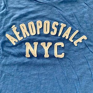 Aero blue & white t-shirt XXL